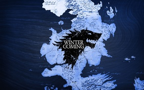 Game of Thrones, map, logo, Winter Is Coming