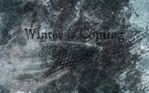 Winter Is Coming, Game of Thrones, House Stark, sigils, Direwolf