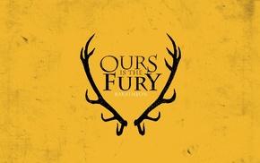 sigils, yellow background, Game of Thrones, antlers, House Baratheon