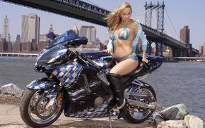 girl, moto, city, girls