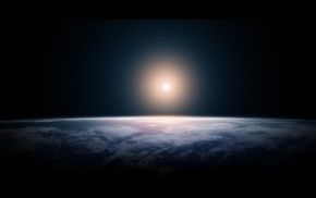 planets, light, Earth, space