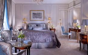 bed, room, interior