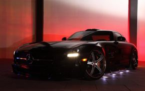amg, Mercedes-Benz, SLS, подсветка, Mercedes-Benz SLS amg, tuning