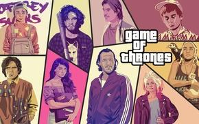Tyrion Lannister, The Hound, Jon Snow, Daenerys Targaryen, Sansa Stark, Joffrey Baratheon