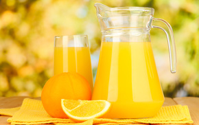 фрукты, кувшин, вкусно, Апельсин, цитрусы, сок
