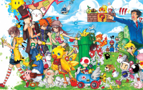 Mario Kart, The World Ends With You, The Legend of Zelda, Disgaea, ace attorney, bomberman