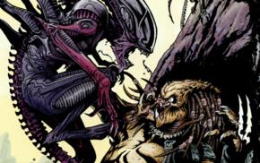 comics, Alien movie, Alien vs. Predator, Predator movie