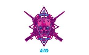 Star Wars, logo, anime, Darth Maul