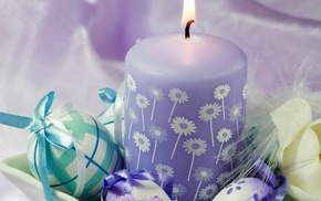 holiday, candle, flowers