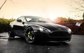 осень, диски, SR, Aston Martin, Aston Martin db9, свет
