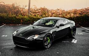 db9, Aston Martin db9, Aston Martin, черный, свет, фары