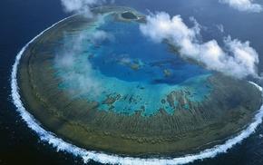 water, clouds, Australia, deserted Island, island, landscape