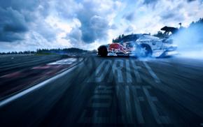 drift, Mazda, Mazda RX, 7, car, Red Bull