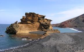 море, берег, природа, утёс, скала