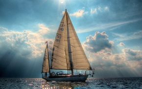 water, sailing ships, nature, sea, landscape