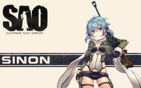 Sword Art Online, anime, Asada Shino, Gun Gale Online