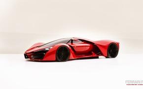Феррари, концепт-кары, концептуальное искусство, красные машины