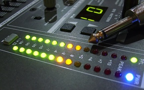 mixing consoles, music