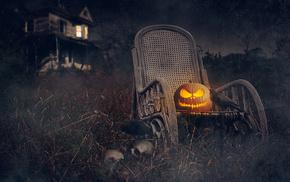 Halloween, holiday, house