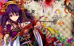 colorful, anime, traditional clothing, manga, anime girls, Snyp