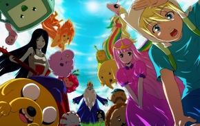 Finn the Human, Lumpy Space Princess, Marceline, Princess Bubblegum, BMO, Jake the Dog