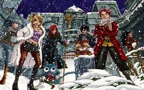 Dragneel Natsu, Lockser Juvia, Scarlet Erza, Heartfilia Lucy, Fairy Tail, Gajeel Redfox