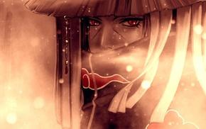 anime boys, Akatsuki, Uchiha Itachi, red eyes, Naruto Shippuuden