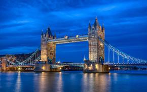 river, London, cities, England, UK