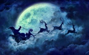 Christmas, santa, winter, Santa Claus, snow