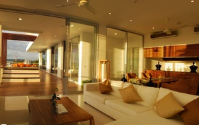 villa, style, design, house, interior