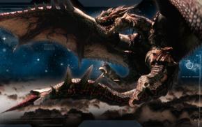 Rathalos, video games, Monster Hunter, dragon