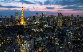 Japan, Tokyo, cities, lights