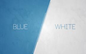 белый, синий, просто