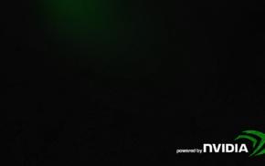 video games, logo, green, Nvidia