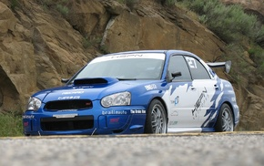 blue cars, Subaru Impreza, rally cars, car