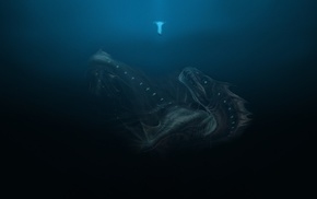 sea monsters, underwater, deep sea