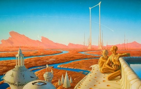 The Martian Chronicles, artwork, Michael Whelan, science fiction, Ray Bradbury, Mars