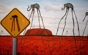 Salvador Dal, signs, elephants, artwork