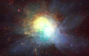 туманность, Арт, космос, звезды
