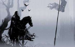 simple background, cape, skull, horse, death