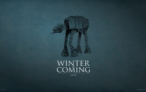 AT, Game of Thrones, crossover, A Song of Ice and Fire, House Stark, Winter Is Coming