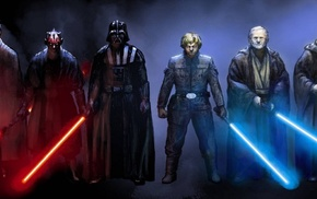 Luke Skywalker, Star Wars, Yoda, Darth Vader, Obi, Wan Kenobi