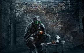 gas masks, Vitaly S Alexius, apocalyptic, Romantically Apocalyptic