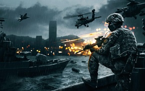 helicopters, army, Battlefield 4, boat, video games