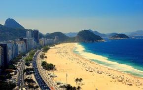 beach, Copacabana, Brazil, Rio de Janeiro, city, cityscape