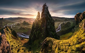 Max Rive, sunset, nature, landscape, HDR, river
