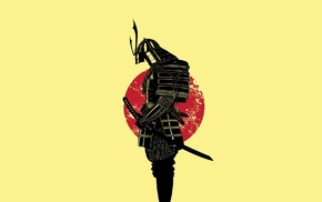 Japan, cartoon, samurai, warrior