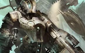 robot, artwork, mech, fantasy art, war, concept art