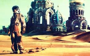 desert, spaceman, sand