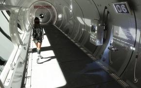 futuristic, space station
